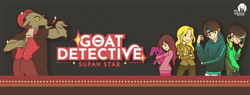 Goat Detective Supah Star, indie game, made in colombia, tan grande y jugando, mr alpaca, mister alpaca