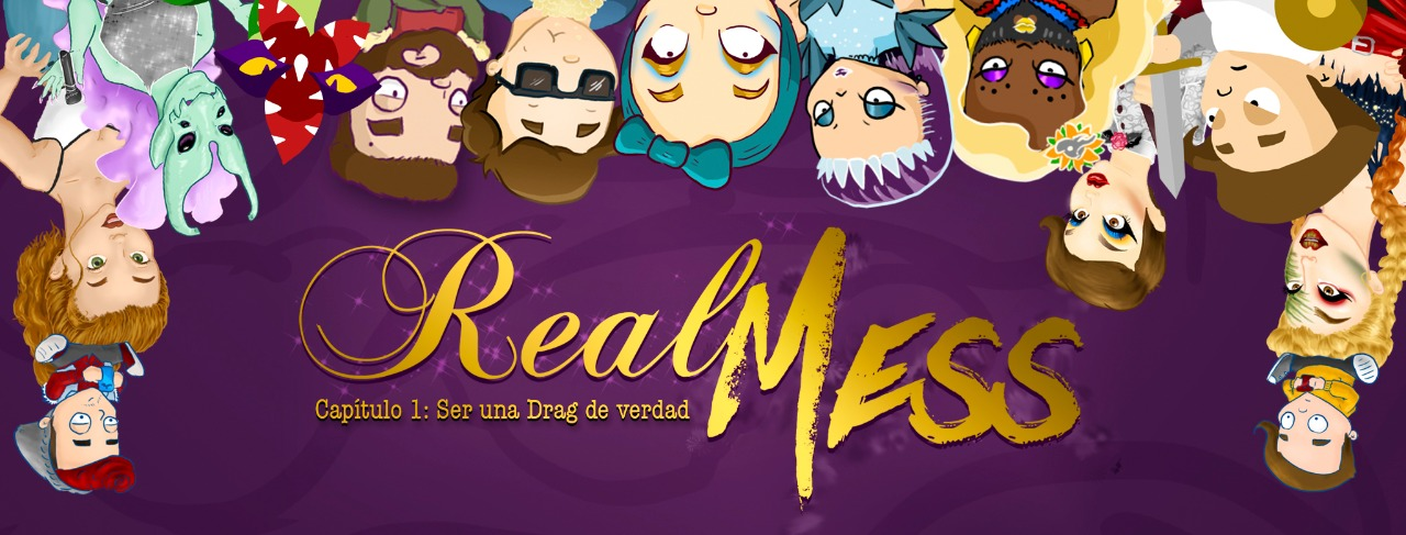 Real mess, tan grande y jugando, dragón, dragón queen, drag queen game, video game,
