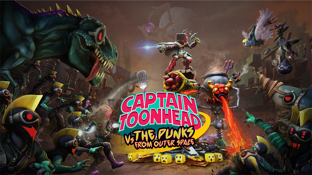 Teravision Games, Captain Toonhead vs the Punks from Outer Space , tan grande y jugando, videojuegos, Colombia